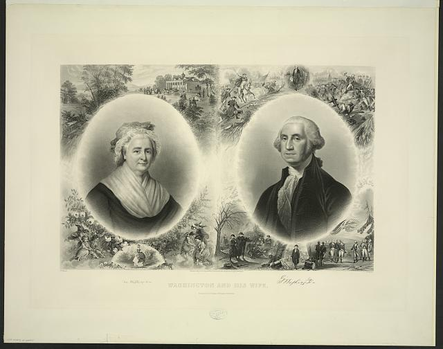 Washington and his wife