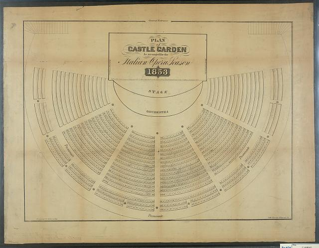 Plan of castle garden: as arranged for the Italian opera season 1853