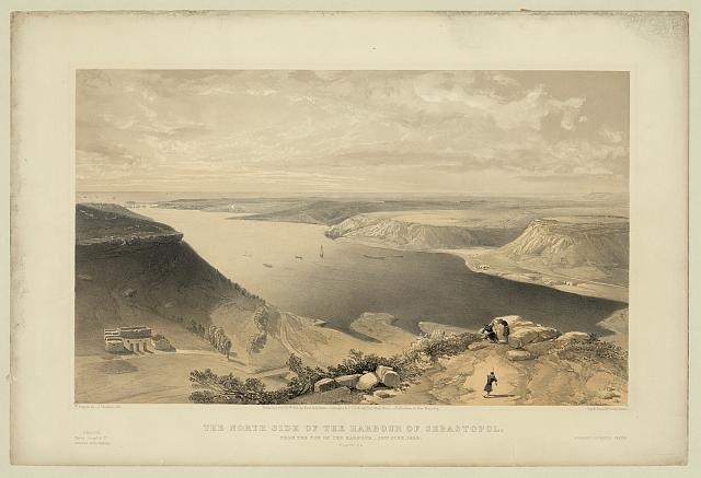 The north side of the harbour of Sebastopol - from the top of the harbour, 22nd June 1855