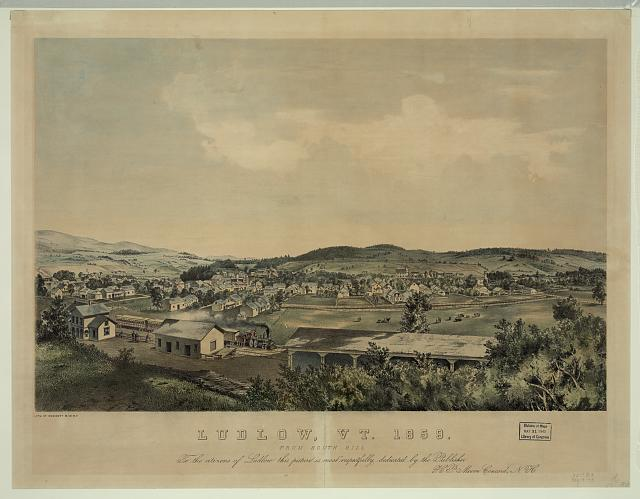 Ludlow, Vt. 1859 From south hill /