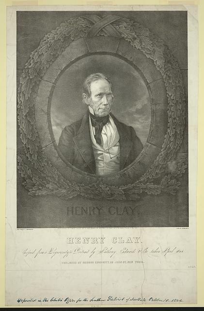 Henry Clay Copied from a daguerreotype portrait by Anthony, Edwards & Co. taken April 1844 /