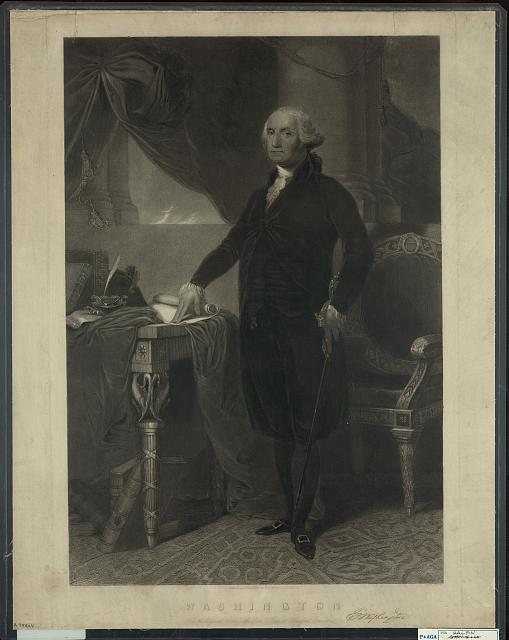 Washington, from the original picture in the state house at Hartford Connecticut