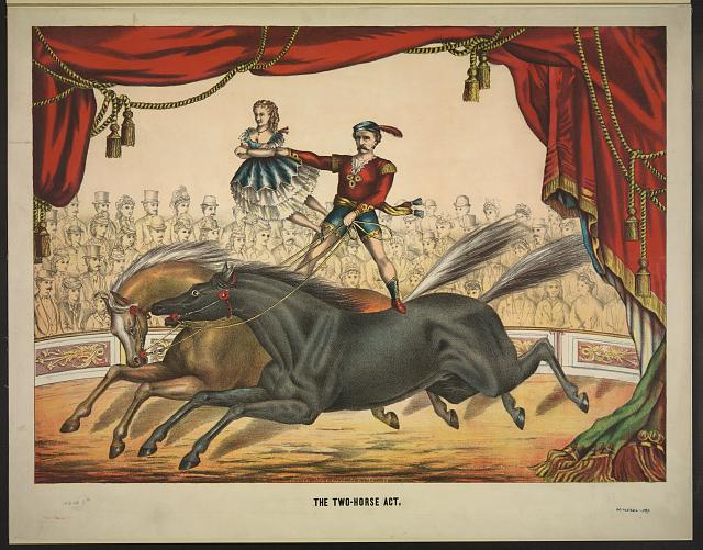 The two-horse act