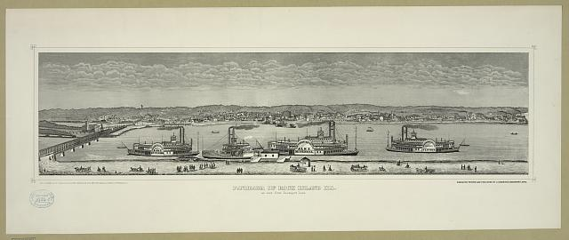 Panorama of Rock Island, Ill. A seen from Davenport, Iowa