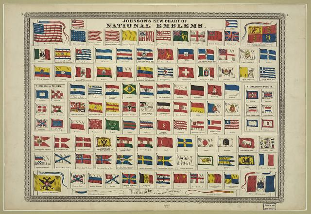 Johnson's new chart of national emblems