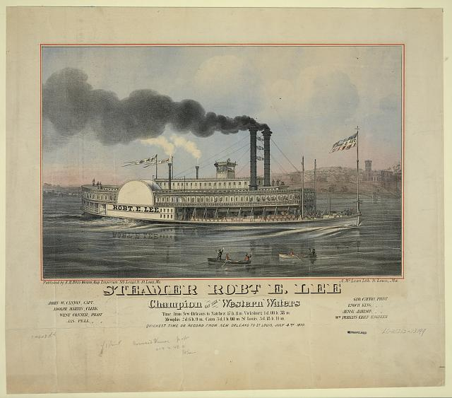 Steamer Robt. E. Lee. Champion of the western waters