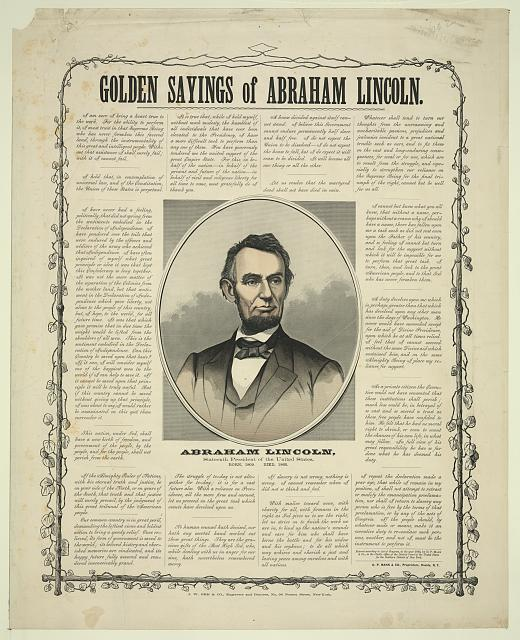 Golden sayings of Abraham Lincoln