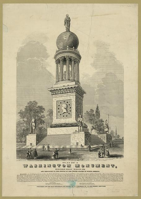 Plan of a Washington monument, designed by William Wallace, Esq.