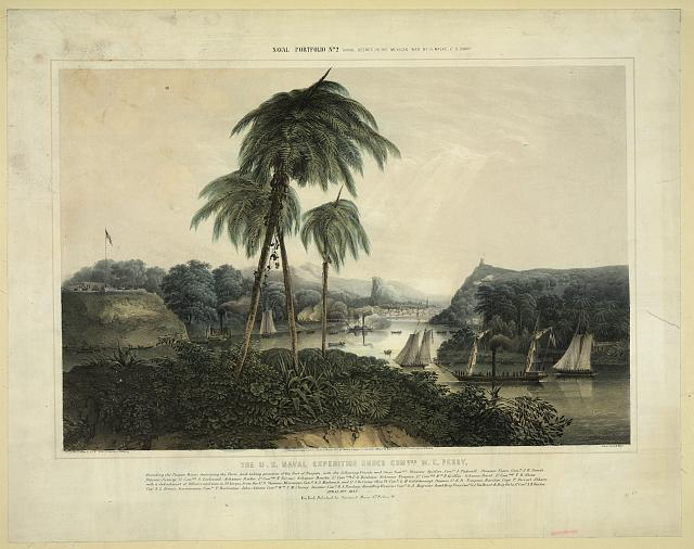 The U.S. naval expedition under Com..ore M.C. Perry, ascending the Tuspan River ; destroying the forts, and taking possesion [sic] of the port of Tuspan [...]