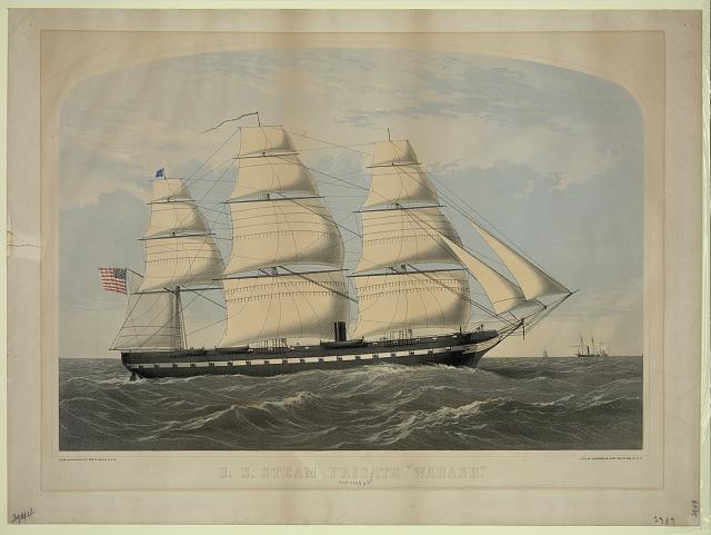 "U.S. steam frigate ""Wabash"""