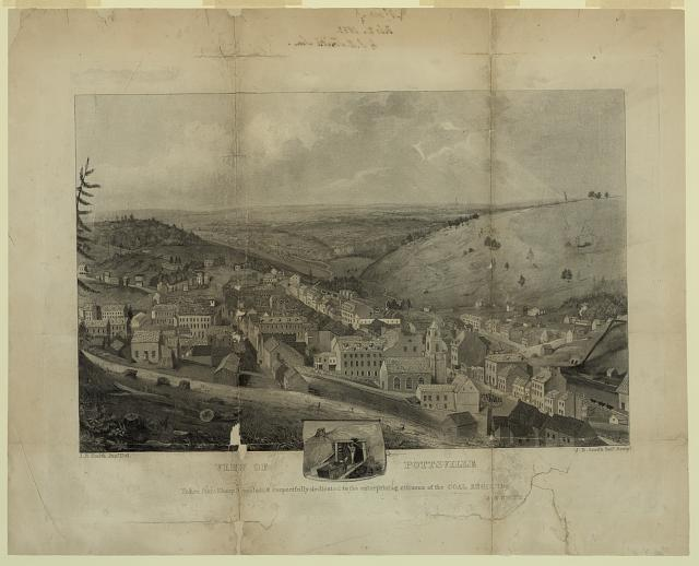 View of Pottsville Taken from Sharp Mountain & respectfully dedicated to the enterprising citizens of the Coal Region by J.R. Smith /