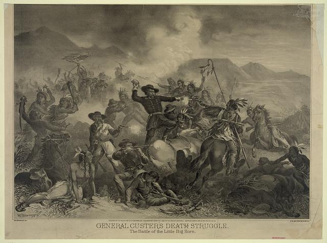 General Custer's death struggle. The battle of the Little Big Horn