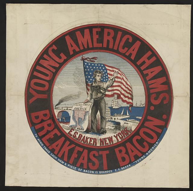Young America hams and breakfast bacon, E.S. Baker, New York