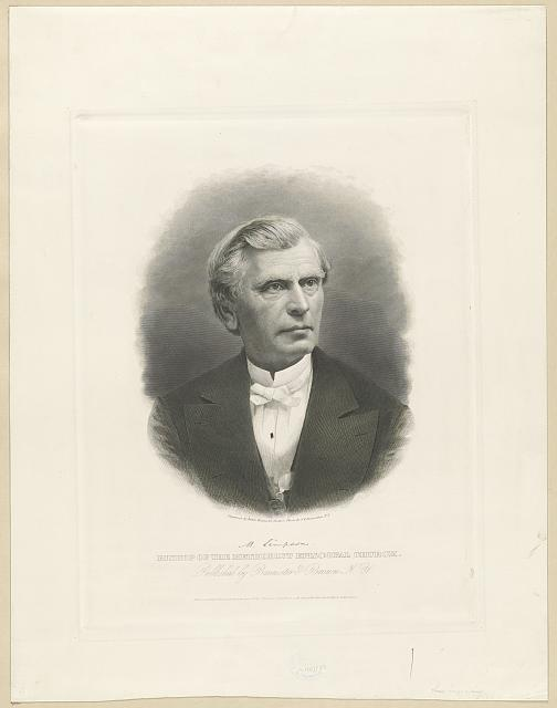 M. Simpson. Bishop of the Methodist Episcopal church