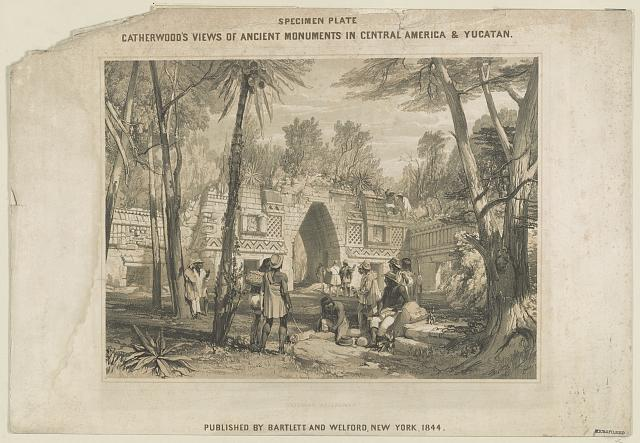 Catherwood's views of ancient monuments in Central America & Yucatan. Gateway at Labnah