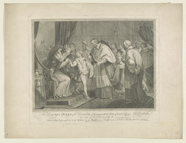 The dowager Queen of Edward the 4th, parting with the Duke of York to the two Archbishops, by order of Richard the III