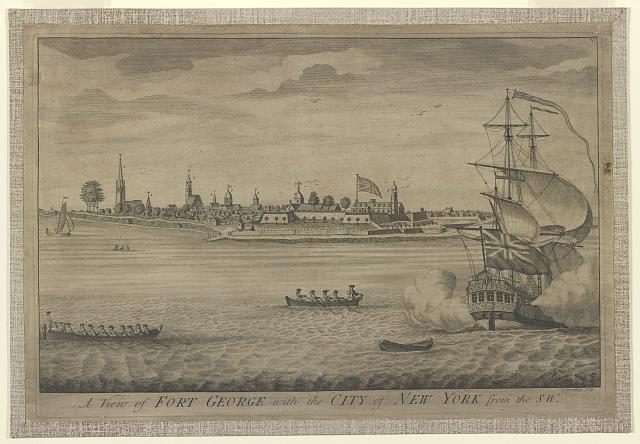 A view of Fort George with the City of New York from the SW