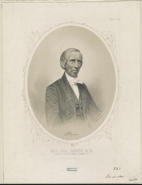 Rev. Joel Hawes, D.D. Pastor of the First Church in Hartford Ct.