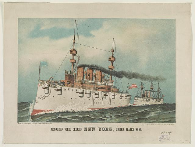 Armoured steel cruiser New York, United States Navy