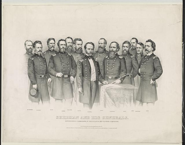 Sherman and his generals: distinguished commanders, in the Atlanta and Georgia campaigns