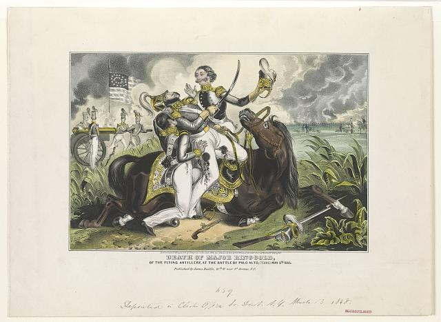 Death of Major Ringgold, of the Flying Artillery, at the Battle of Palo Alto, (Texas) May 8th, 1846
