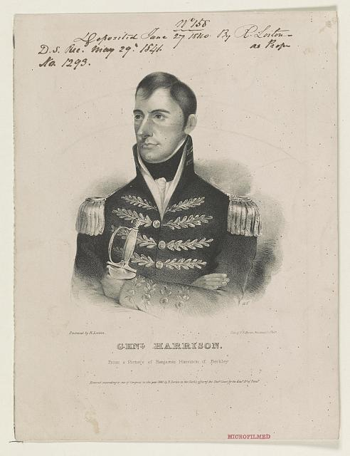 Genl. Harrison - from a picture of Benjamin Harrison of Berkley