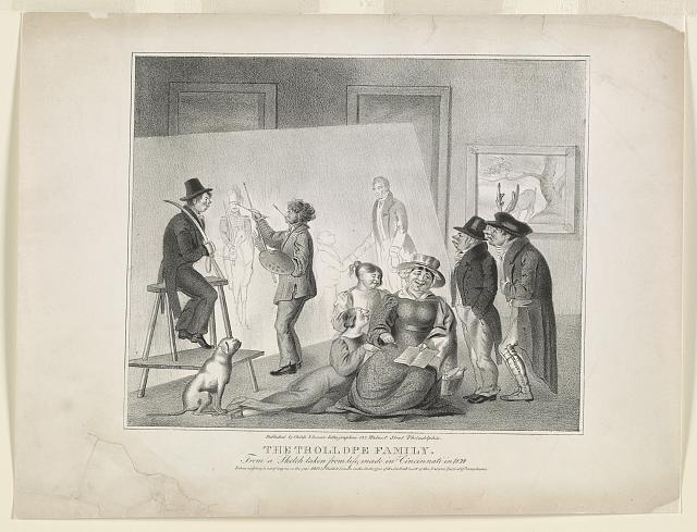 The Trollope Family, from a sketch taken from life, made in Cincinnati in 1829