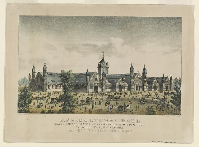 Agricultural Hall. Grand United States Centennial Exhibition, 1876. Fairmount Park, Philadelphia