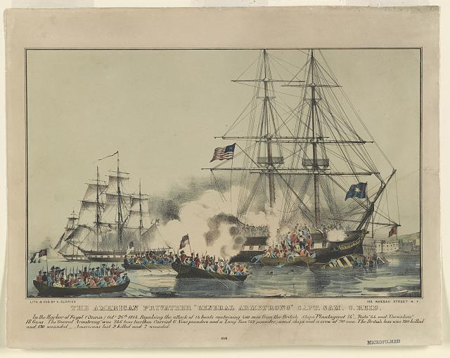 "American privateer ""General Armstrong"" Capt. Sam. C. Reid"