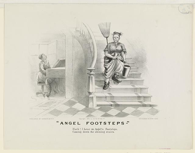 "Angel footsteps: ""Hark! I hear an angel's footsteps, coming down the shining stairs"""