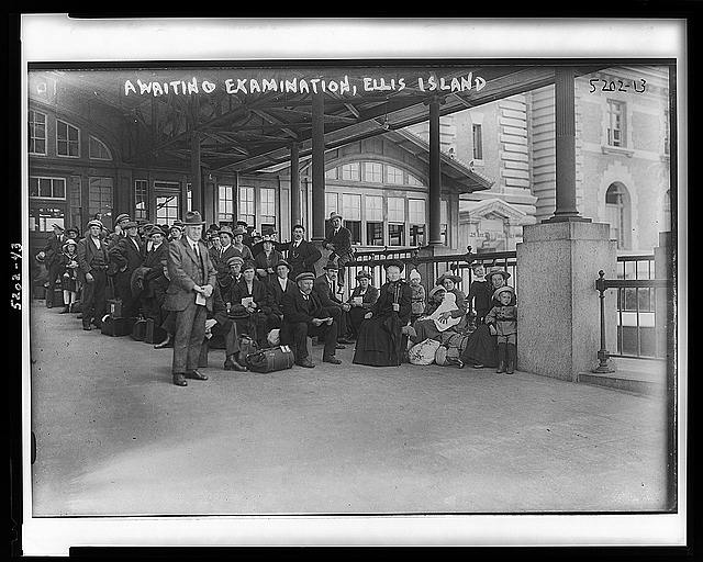 Awaiting examination, Ellis Island