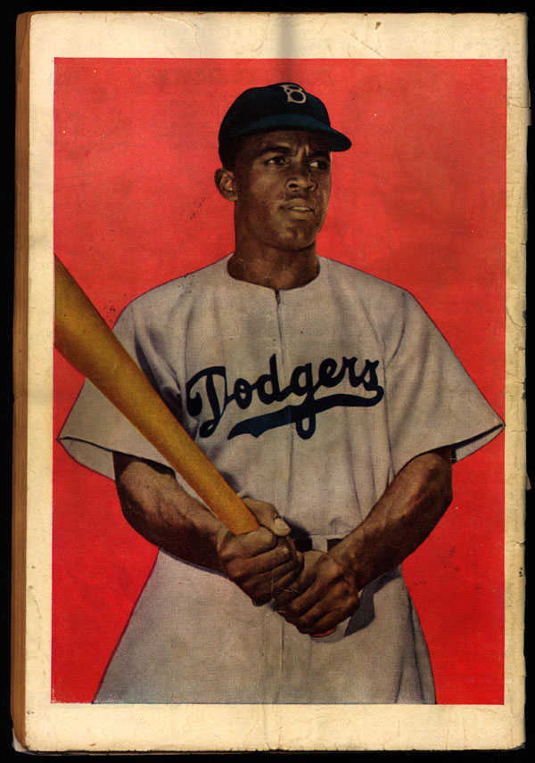 [Back cover of Jackie Robinson comic book]