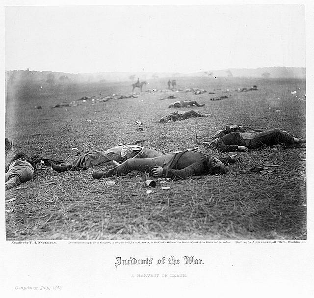 [Incidents of the war. A harvest of death, Gettysburg, July, 1863]