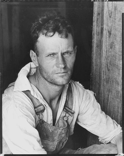 Floyd Burroughs, cotton sharecropper. Hale County, Alabama