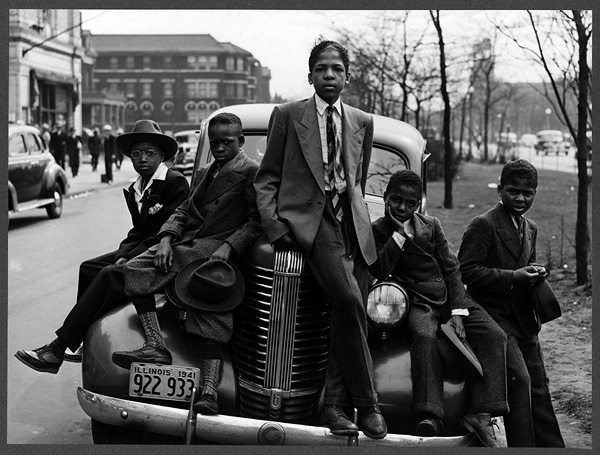 Negro boys on Easter morning. Southside, Chicago, Illinois