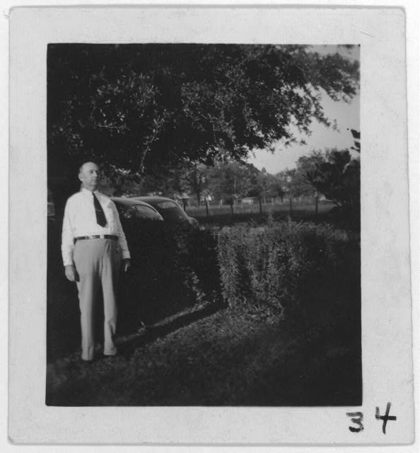 [H.R. Weaver, singer of &quot;Ox-driving song&quot; at his home, Merryville, La.]