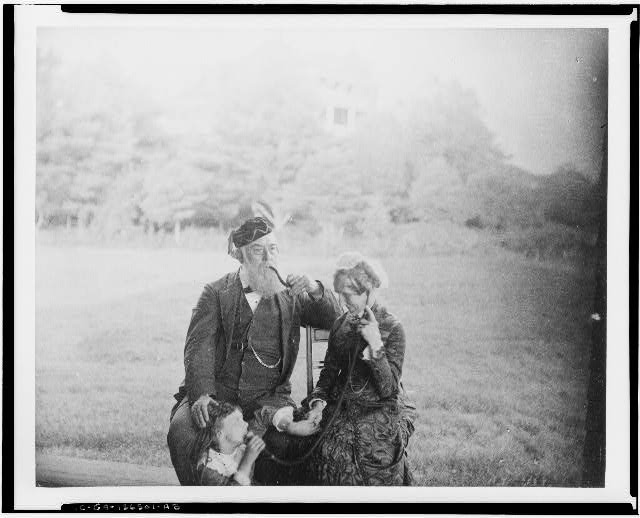 [Alexander Melville Bell with his wife Eliza Grace Symonds and their granddaughter Elsie May Bell at Beinn Bhreagh, Nova Scotia]