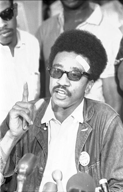 H. Rap Brown, SNCC [i.e., Student Nonviolent Coordinating Committee], news conf[erence]