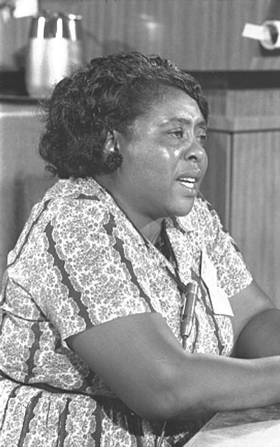 [Fannie Lou Hamer at the Democratic National Convention, Atlantic City, New Jersey, August 1964]