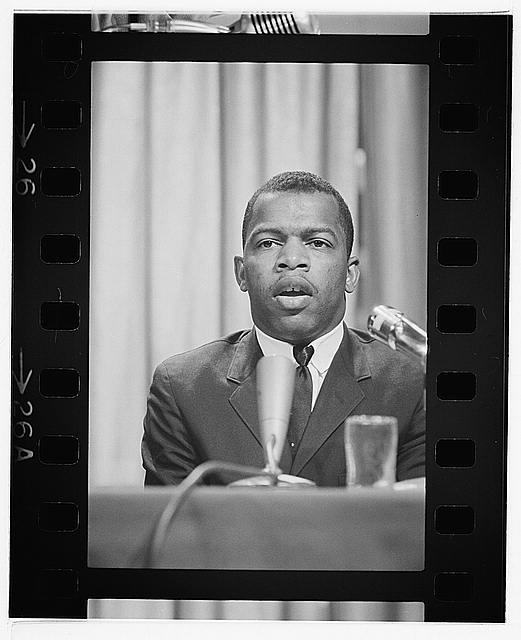 [John Lewis speaking at a meeting of American Society of Newspaper Editors, Statler Hilton Hotel, Washington, D.C.]