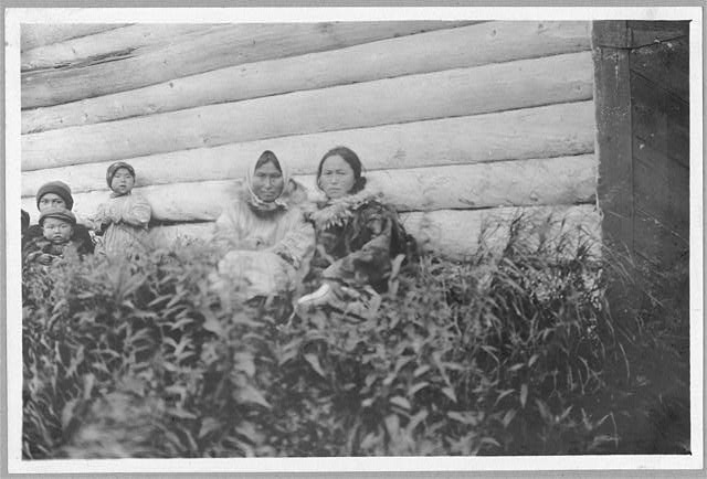 [Eskimo women and children]