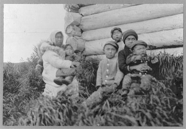 [Eskimo woman with children]