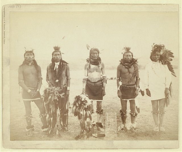 Indian Warriors. Mr. Bear-that-Runs-and-Growls, Mr. Warrior, Mr. One-Tooth-Gone, Mr. Sole (bottom of foot), Mr. Make-it-Long