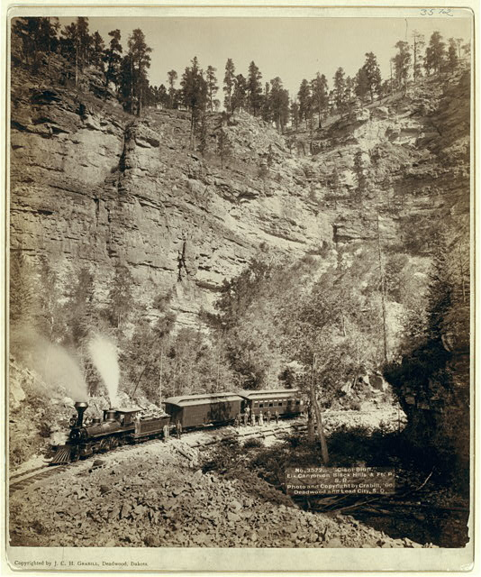 """Giant Bluff."" Elk Canyon on Black Hills and Ft. P. R.R."