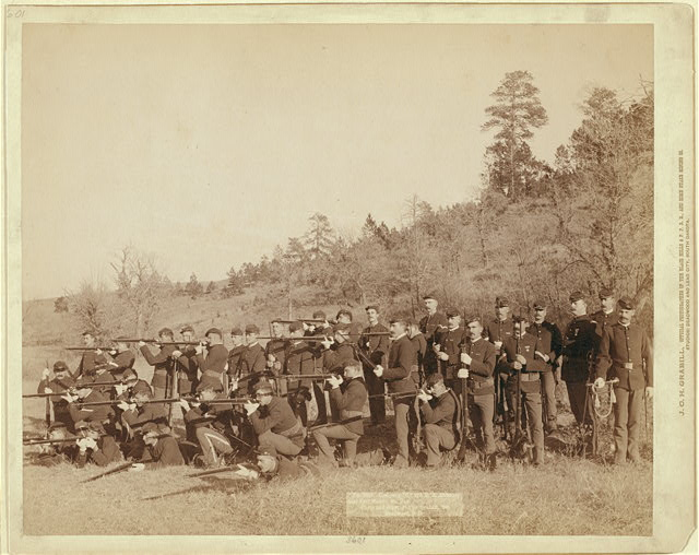 "Company ""C,"" 3rd U.S. Infantry near Fort Meade, So. Dak."