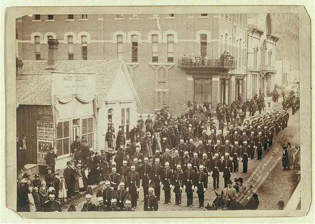 Deadwood. Grand Lodge I.O.O.F. of Dakotas. Street Parade, May 21, 1890