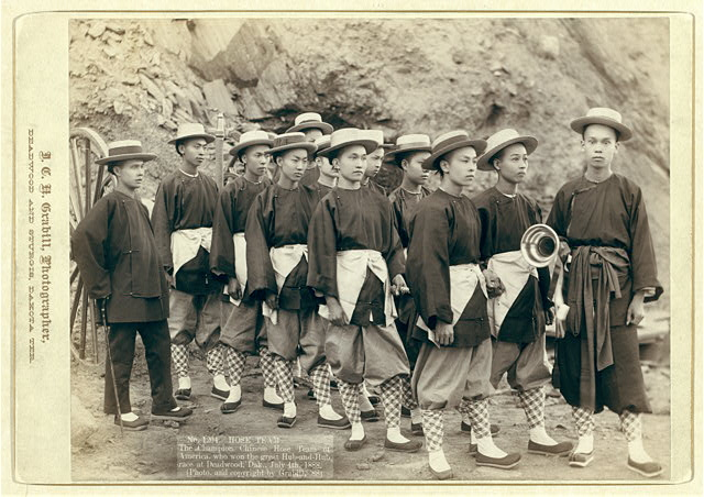 Hose team. The champion Chinese Hose Team of America, who won the great Hub-and-Hub race at Deadwood, Dak., July 4th, 1888