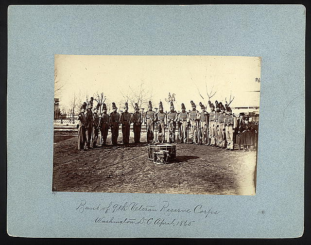 Band of 9th Veteran Reserve Corps, Washington, D.C., April, 1865