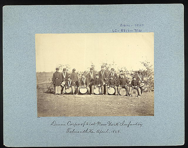 Drum Corps of 61st New York Infantry, Falmouth, Va., March, 1863