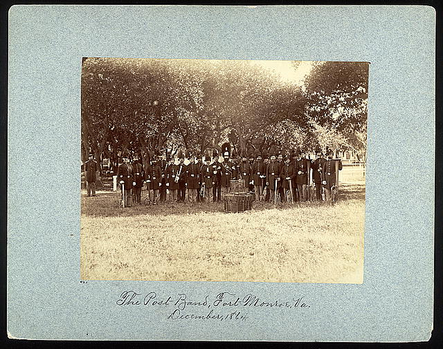 The post band, Fort Monroe, Va., December, 1864